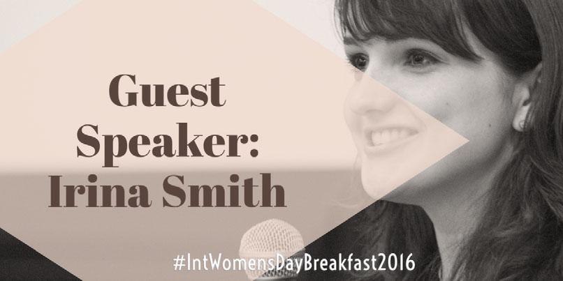 Guest Speaker:Irina Smith