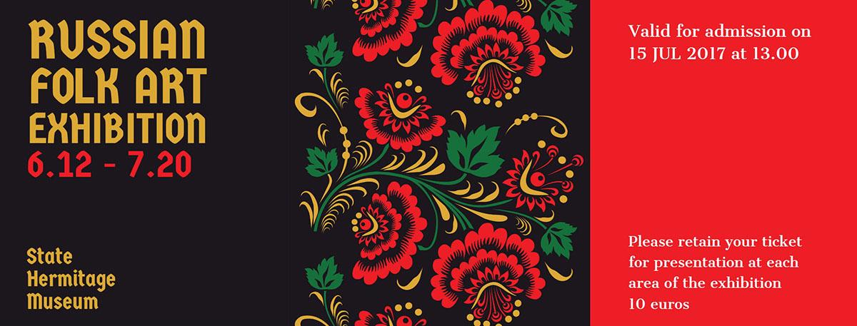 Russian folk art exhibition