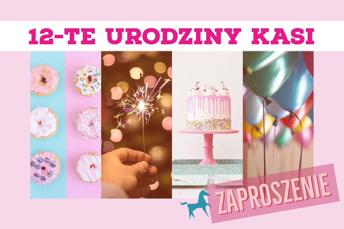 Zaproszenie Zaproszenie 12-te urodziny Kasi
