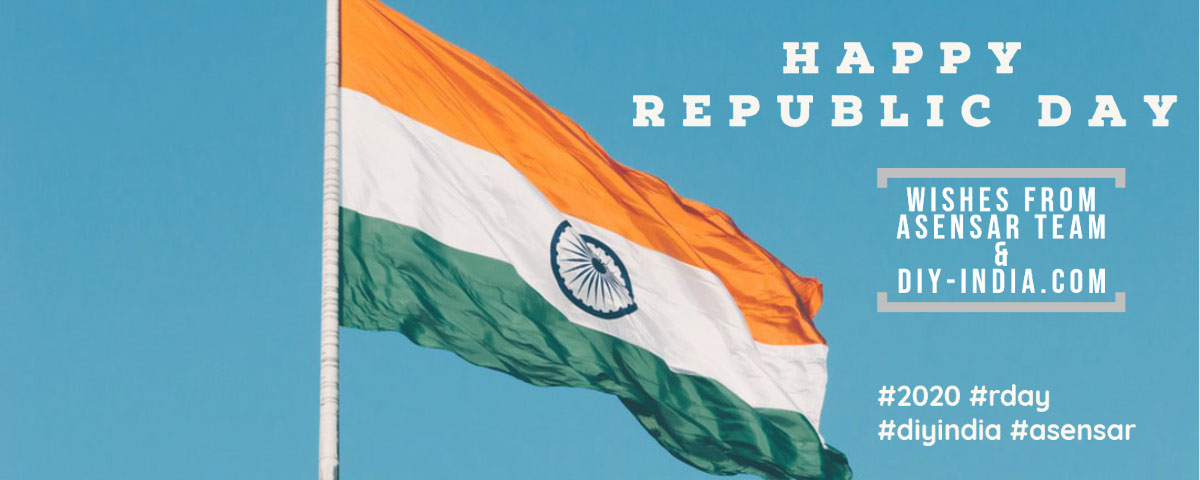 HAPPY REPUBLIC DAY from ASENSAR and DIY-India.com