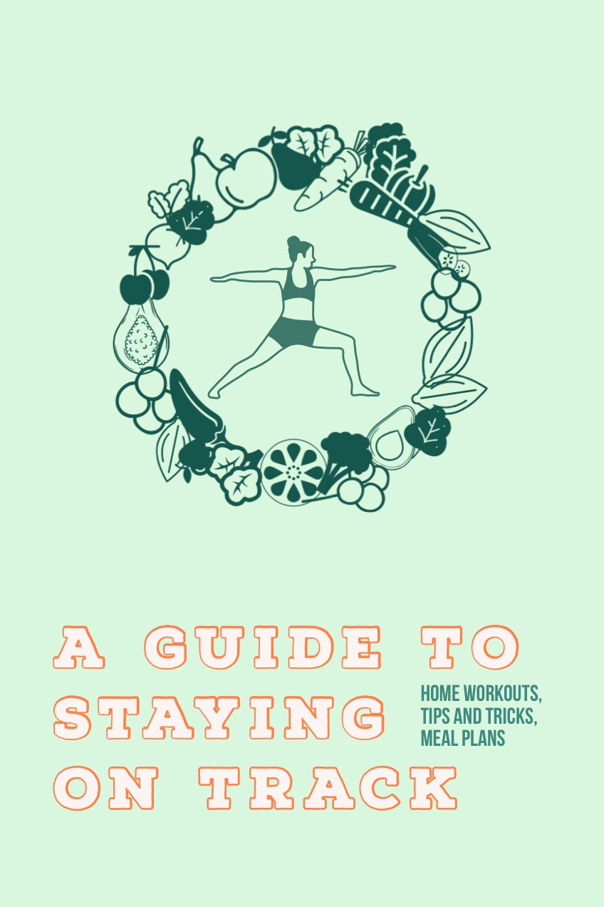 Blue and Orange A Guide To Staying  On Track Pinterest A Guide to Staying   on Track   Home Workouts,  Tips and Tricks,  Meal Plans