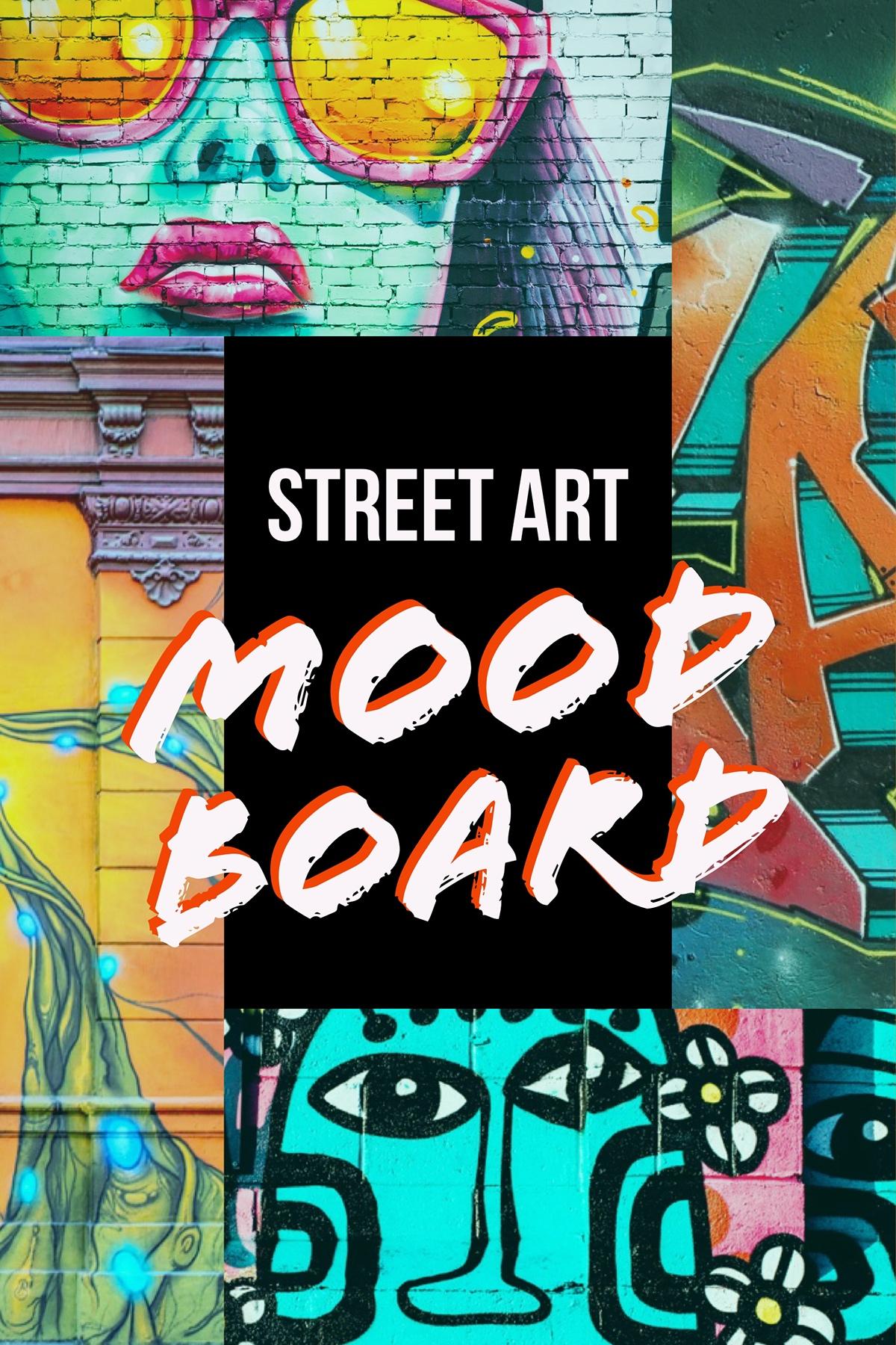 Colorful Street Art Collage Pinterest Post Mood Board Street Art