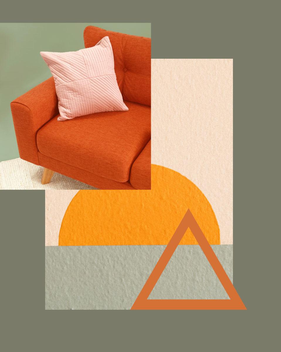 Grey and Orange Furniture Collection Ad Instagram Portrait