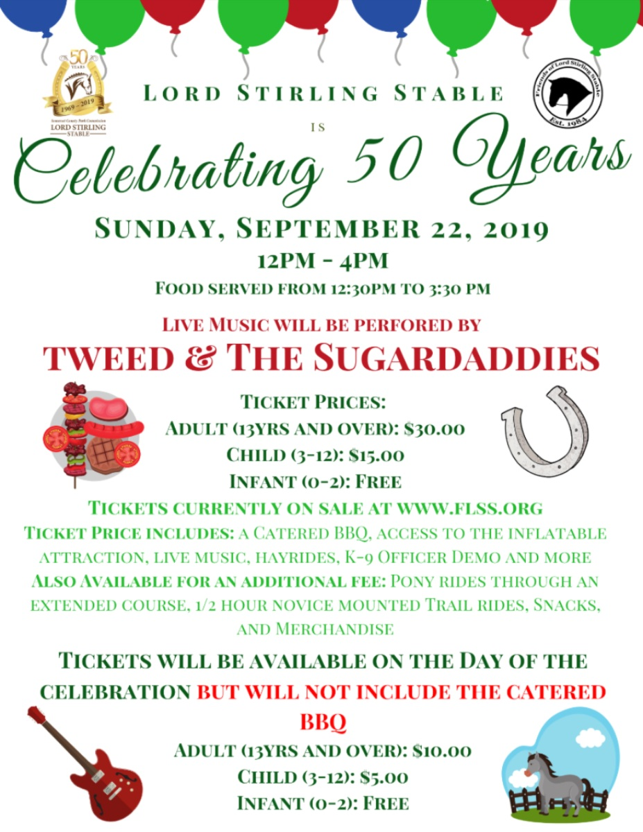 Lord Stirling Stable 50th Anniversary Celebration