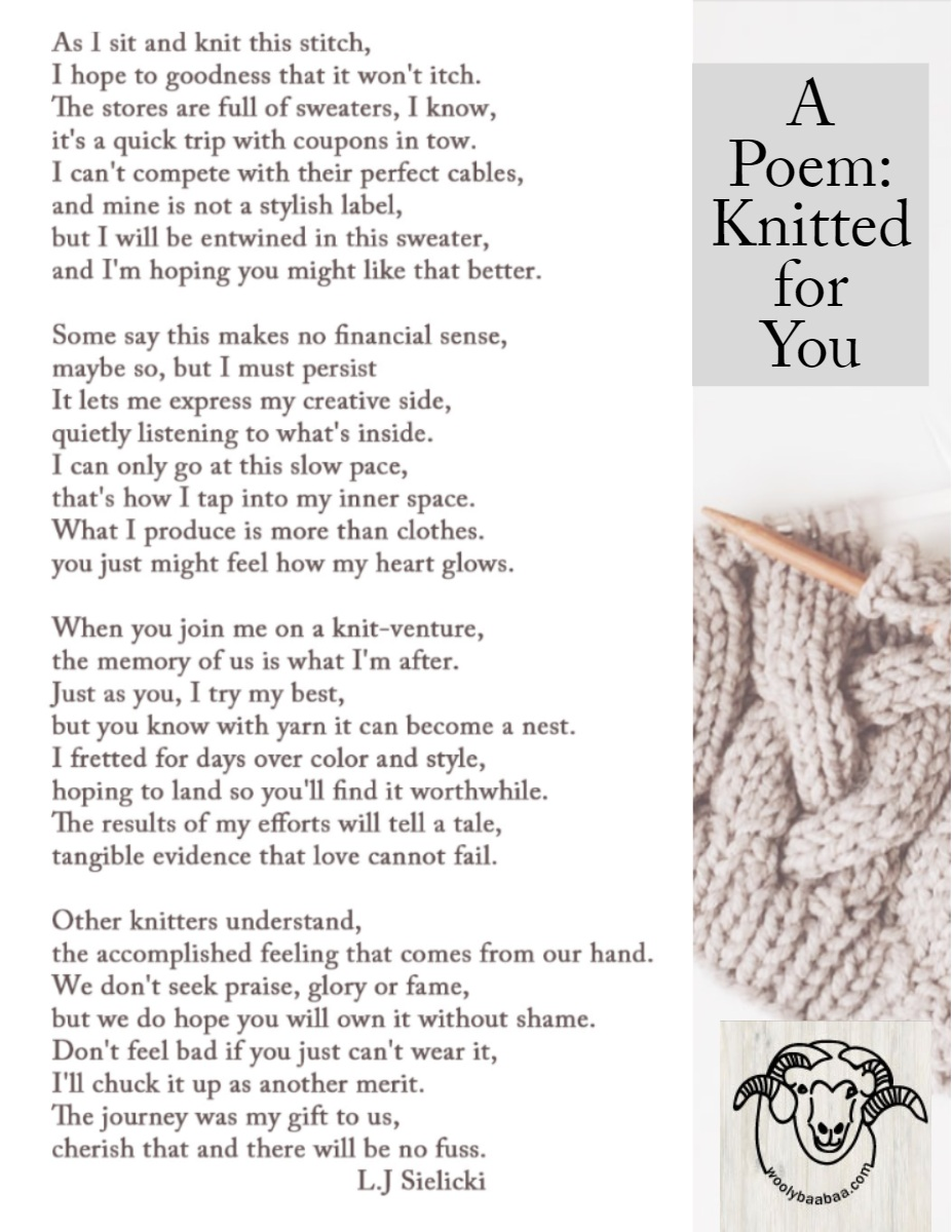 A Poem:<BR>Knitted for You  A Poem:<BR>Knitted for You