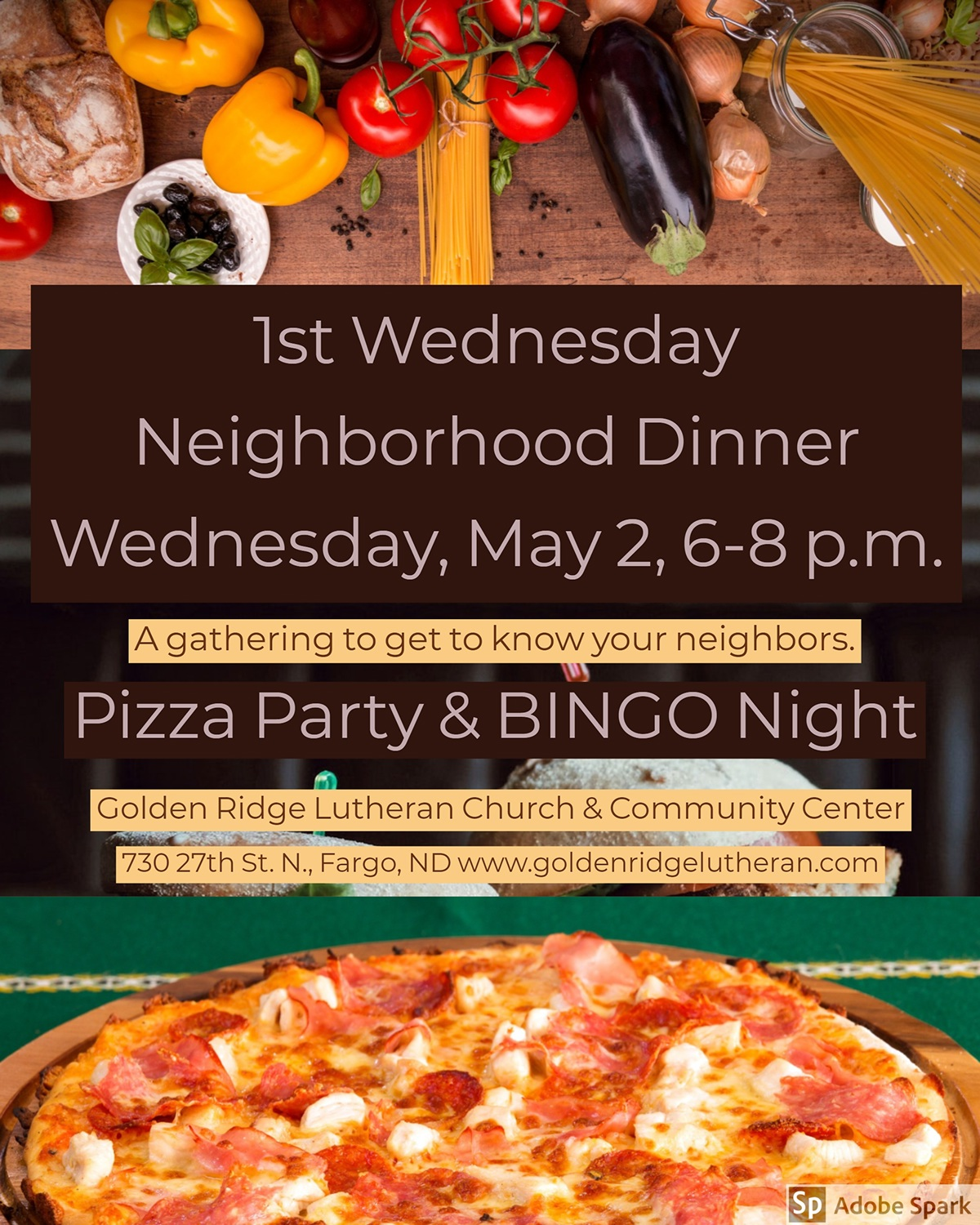 1st Wednesday  Neighborhood Dinner Wednesday, May 2, 6-8 p.m.  1st Wednesday  Neighborhood Dinner  Wednesday, May 2, 6-8 p.m.  