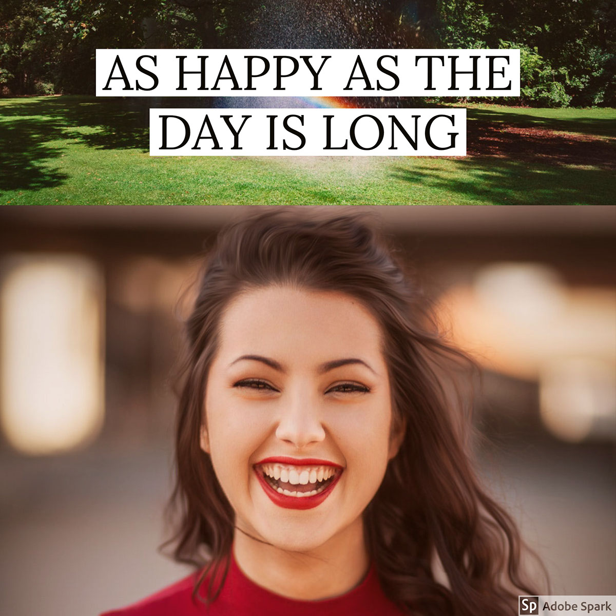 AS HAPPY AS THE DAY IS LONG AS HAPPY AS THE DAY IS LONG