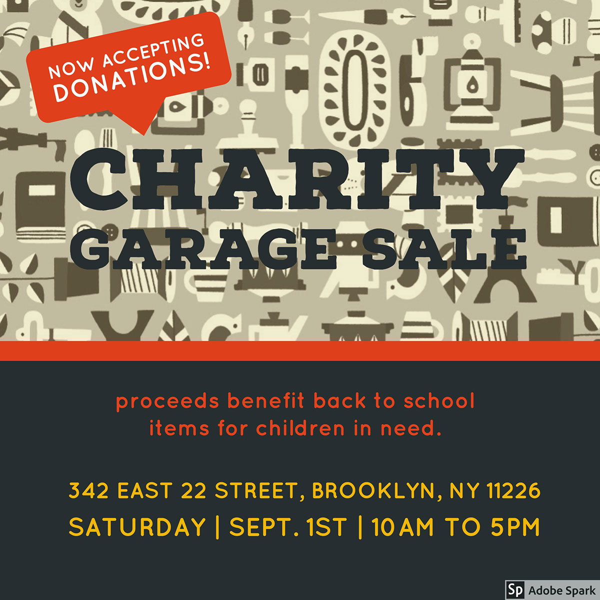 Charity Garage Sale