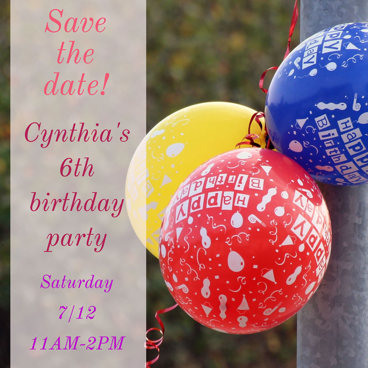 Cynthia's 6th birthday party