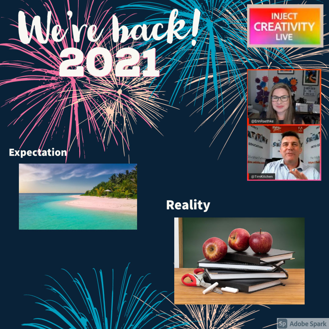 2021 2021 We're back! Reality Expectation