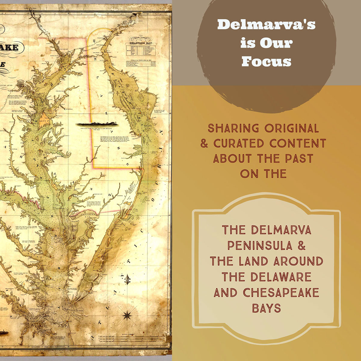 The Delmarva Peninsula & the land around the Delaware and Chesapeake Bays