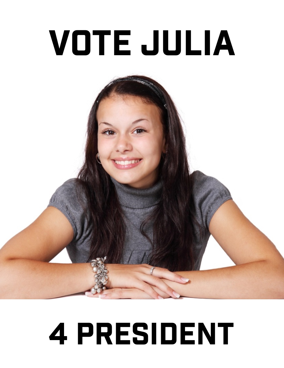 Posters 02 VOTE JULIA   4 PRESIDENT