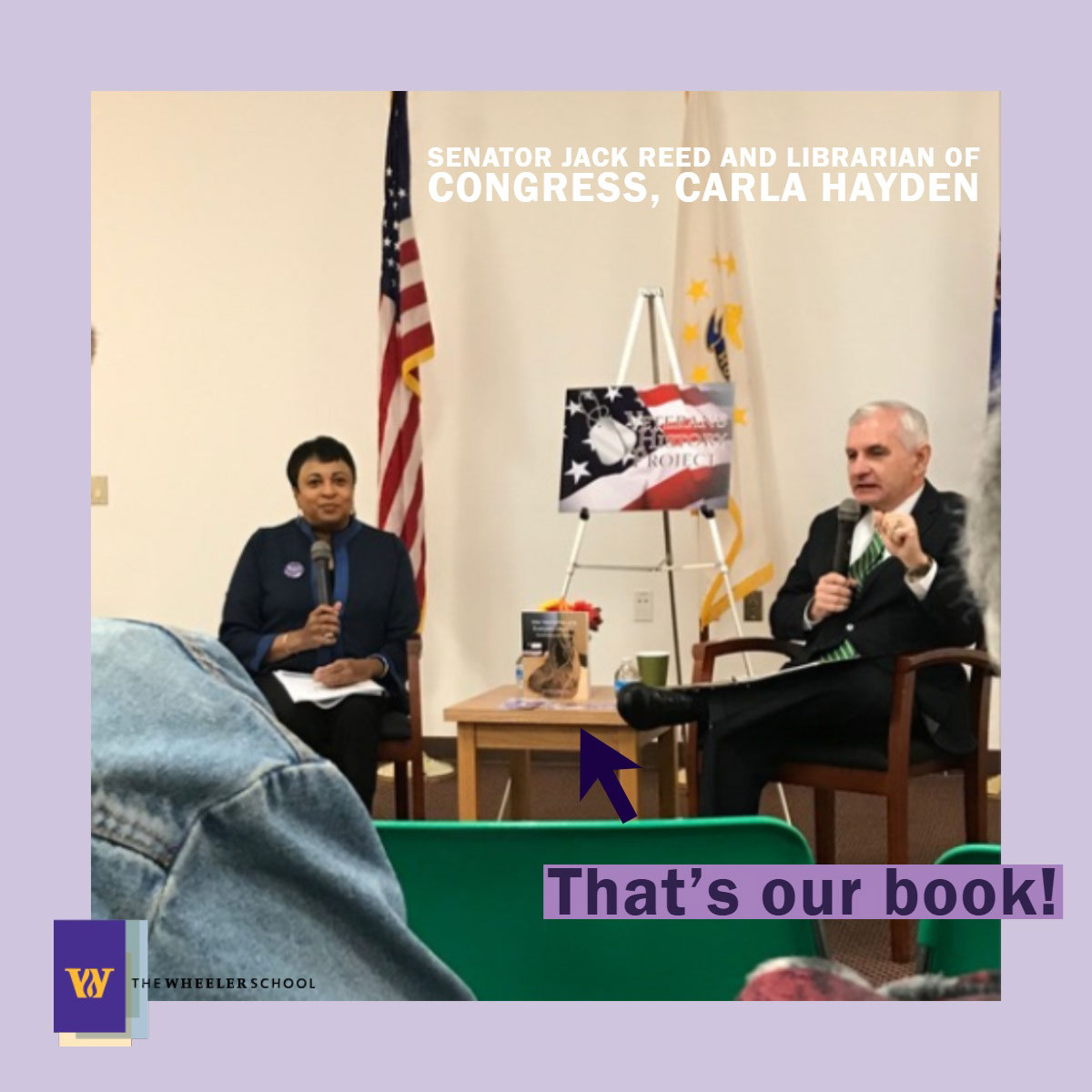That's our book! That's our book!<P>Senator Jack Reed and Librarian of Congress, Carla Hayden