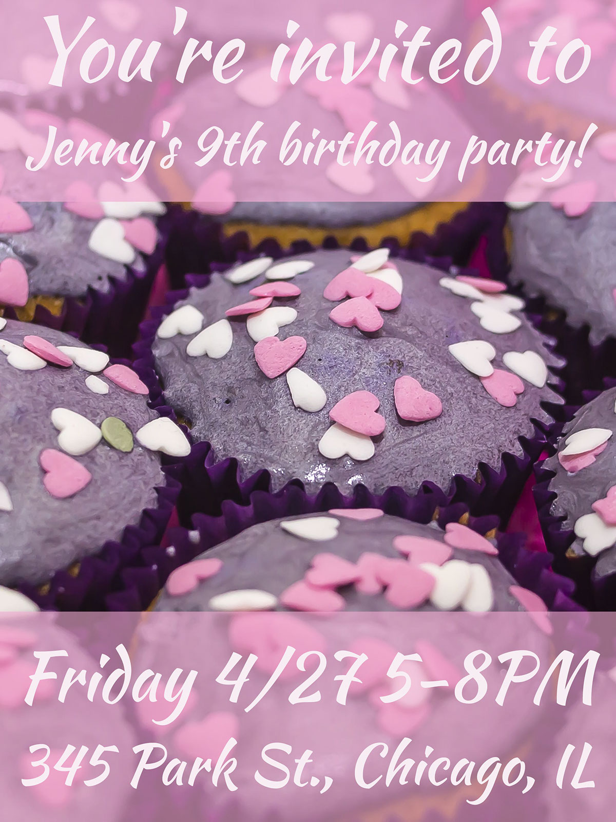You're invited to Jenny's 9th birthday party!