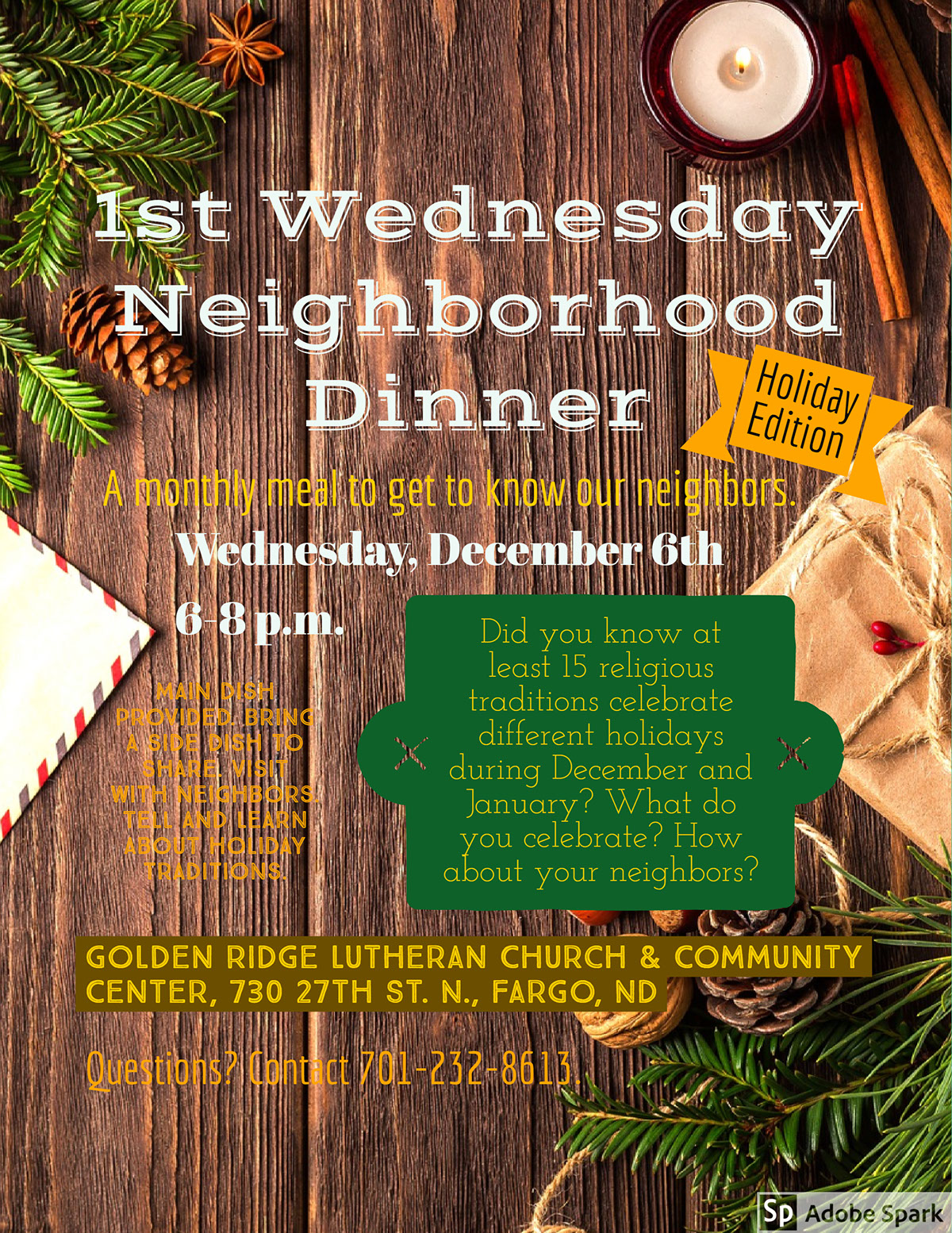 1st Wednesday wooden spoons