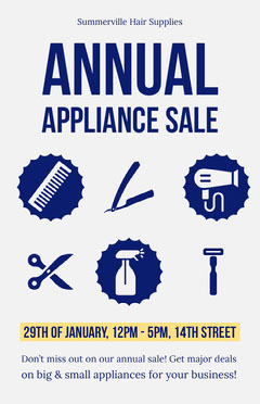 appliance sale flyer Hair Salon