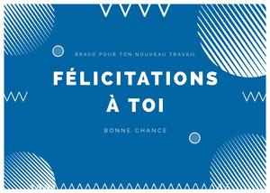new job congratulations cards Carte de félicitations