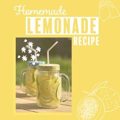 Yellow & White Lemonade In The Sun Instagram Square Drink