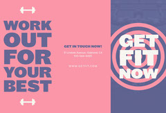 Pink and Blue, Get Fit Now, Brochure Workout