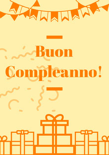 orange and yellow birthday cards  Biglietto di compleanno