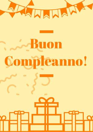 orange and yellow birthday cards  Invito per compleanno