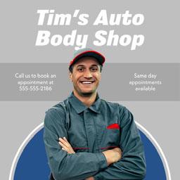 Mechanic Auto Repair Business Advertisement with Headshot
