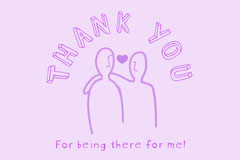 Purple Thank You Postcard Thank You Poster