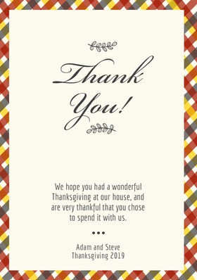 hatched thanksgiving thank you Thank You Card