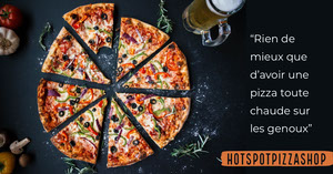 Dark and red Pizza Shop - Facebook Ad Flyer publicitaire