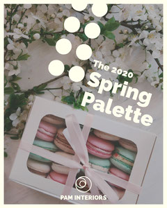 Flowers and Macaroons Spring Palette Instagram Portrait  Interior Design
