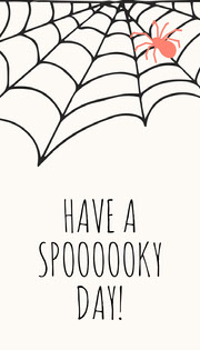 Spider and Cobweb Halloween Party Gift Tag Festa di Halloween