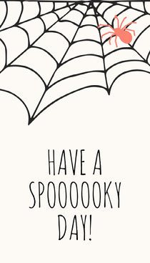 Spider and Cobweb Halloween Party Gift Tag Scary