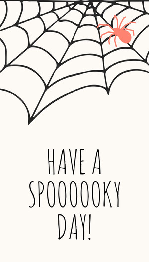 Spider and Cobweb Halloween Party Gift Tag Halloween Party