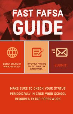 Fast FAFSA Guide Tax Flyer