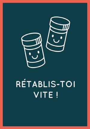 pill bottles get well soon cards Carte de bon rétablissement
