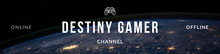Blue and White Destiny Gamer Banner Banner per Twitch