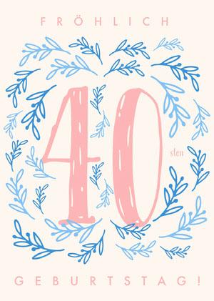 fortieth birthday cards Geburtstagskarte
