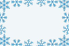 Blue WInter Snowflake Frame Name Tag Frame