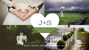 Cold Toned Collage Wedding Announcement Facebook Banner Wedding Banner