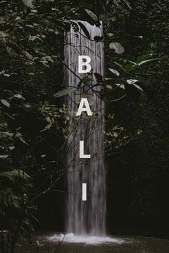 Bali postcard Vacation