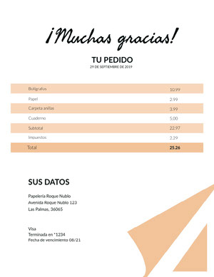 stationary invoice  Factura