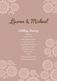 Lauren & Micheal  programmes