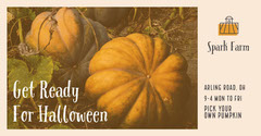 Warm Toned Pumpkin Picking Event Ad Facebook Banner Event Banner