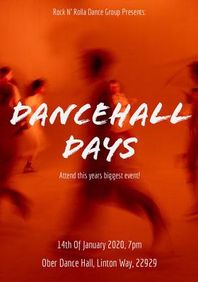 dance event flyer Folleto de invitación a evento