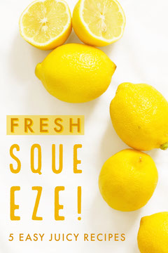 Yellow Lemons - Easy Juicy Recipes  Pinterest Post  Fruit