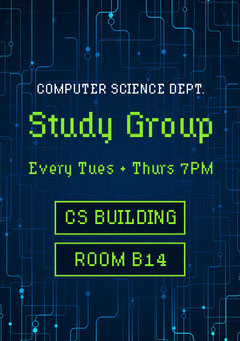 study group flyer College
