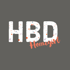 HBD Typography