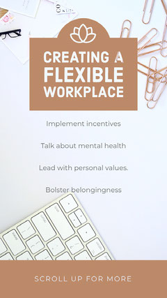 White and Brown Creating Flexible Workplace Social Post Wellness