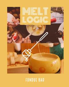 Yellow and White Fondue Bar Advertisement Cheese