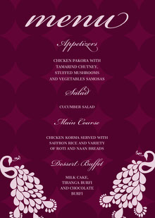 menu Wedding Menu